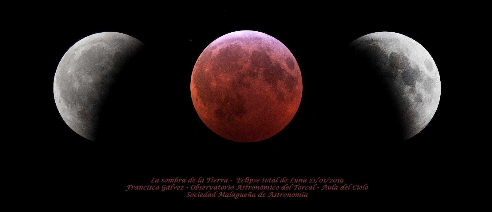 El eclipse total de Luna del 21-01-2018